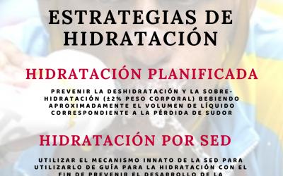 Estrategias de hidratación
