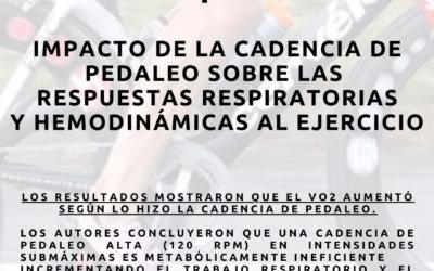 Cadencia de pedaleo y eficiencia metabólica